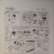 Cómics: PAGINA ORIGINAL PAFMAN DE JOAQUIN CERA PARODIA DRAGON BALL BOLA DE DRAC BOLA DE DRAGON. Lote 54206221