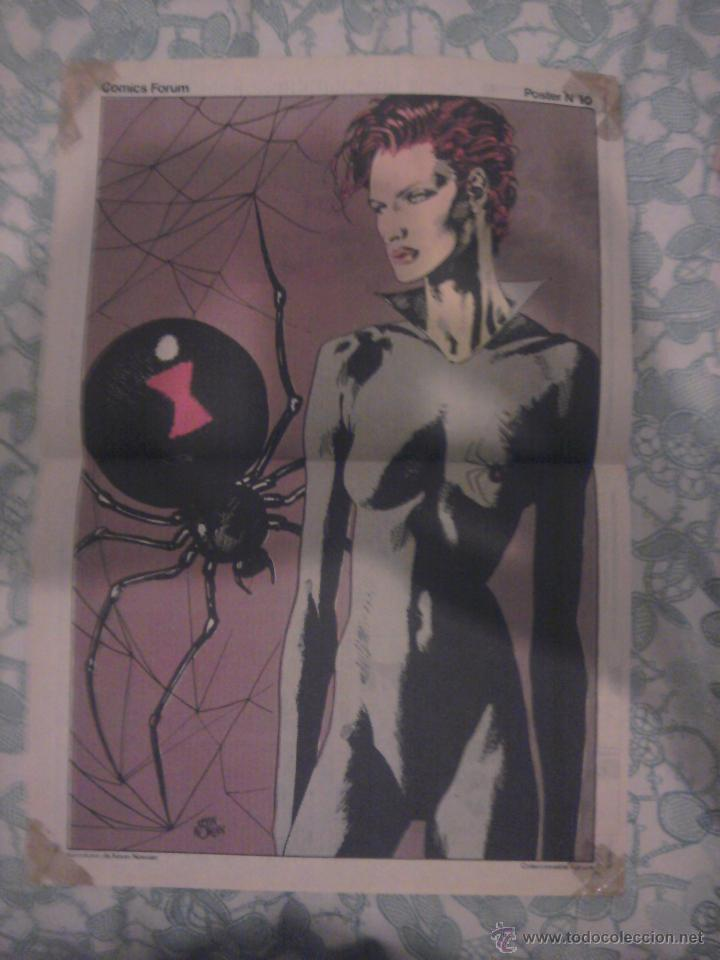 POSTER FORUM VIUDA NEGRA KEVIN NOWLAN (Tebeos y Comics - Comics Merchandising)