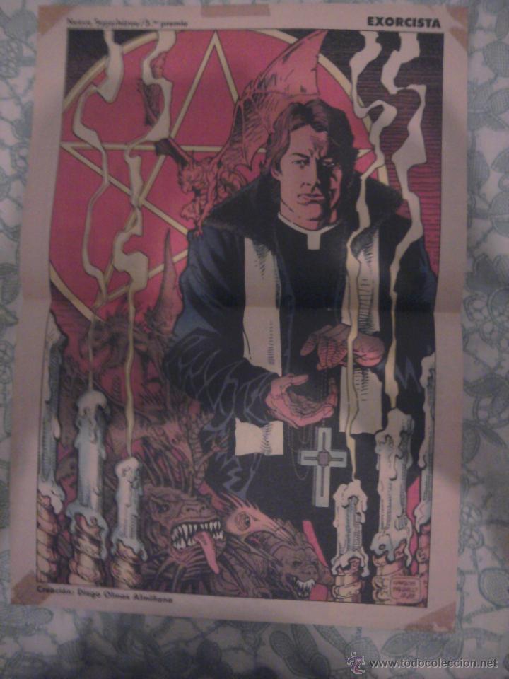 POSTER FORUM EXORCISTA CARLOS PACHECO (Tebeos y Comics - Comics Merchandising)