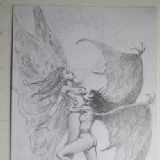 Cómics: DIBUJO ORIGINAL EROTICO DE BLAS GALLEGO ORIGINAL ART EROTIC. Lote 54306766