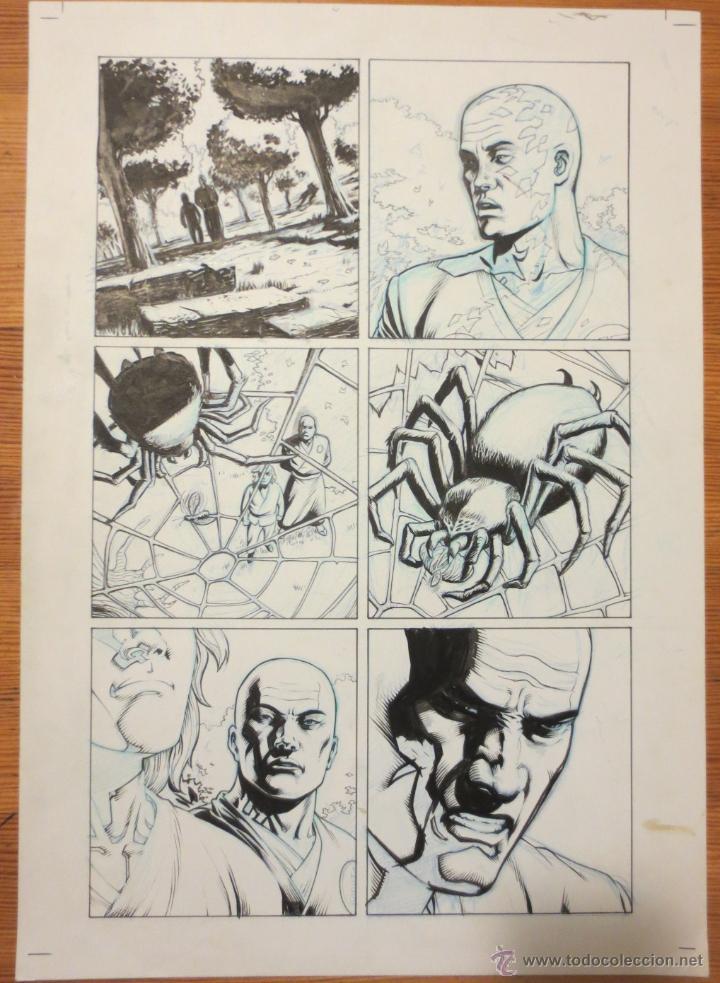 PAGINA ORIGINAL G.I. JOE DE ATILIO ROJO ORIGINAL ORIGINAL COMIC ART PAGE (Tebeos y Comics - Comics Merchandising)