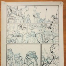Cómics: PAGINA ORIGINAL TRANSFORMERS DE ATILIO ROJO COMIC ART PAGE. Lote 54451201
