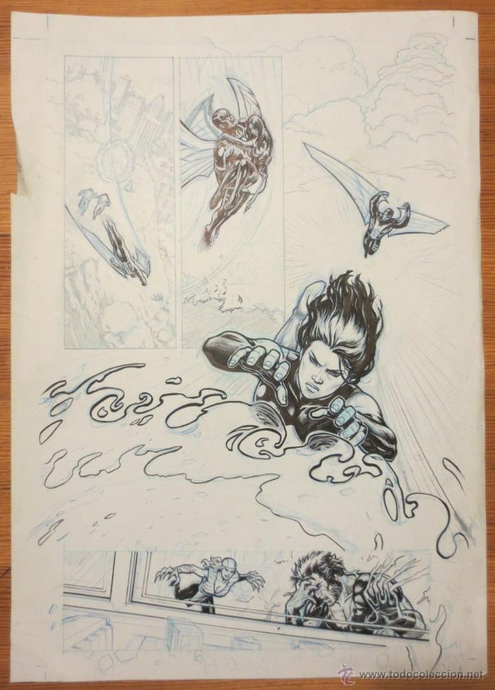 PAGINA ORIGINAL X MEN PATRULLA X DE ATILIO ROJO ORIGINAL PAGE COMIC ART (Tebeos y Comics - Comics Merchandising)