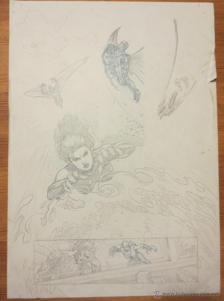 Cómics: PAGINA ORIGINAL X MEN PATRULLA X DE ATILIO ROJO ORIGINAL PAGE COMIC ART - Foto 2 - 54451572