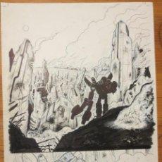 Cómics: PAGINA ORIGINAL TRANSFORMERS DE ATILIO ROJO COMIC ART PAGE. Lote 54451898