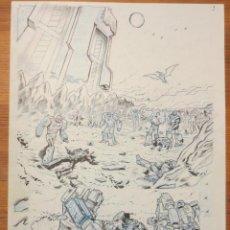 Cómics: PAGINA ORIGINAL TRANSFORMERS DE ATILIO ROJO COMIC ART PAGE. Lote 54452154