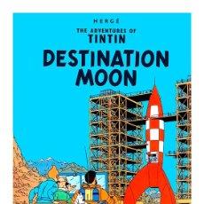 Cómics: TINTIN. OBJETIVO LA LUNA. DESTINATION MOON. CARTEL POSTER PORTADA 45 X 32. Lote 277853403