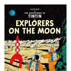 Cómics: TINTIN. ATERRIZAJE EN LA LUNA. EXPLORERS ON THE MOON . CARTEL POSTER PORTADA 45 X 32. Lote 257684715