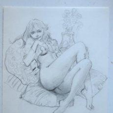 Cómics: DIBUJO ORIGINAL DE BLAS GALLEGO DRAWING ORIGINAL ART. Lote 54659375