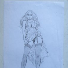 Cómics: DIBUJO ORIGINAL BLAS GALLEGO DRAWING ORIGINAL ART. Lote 54659512