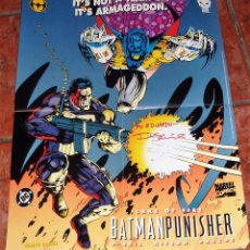 Cómics: POSTER CARTEL DC COMICS BATMAN PUNISHER ARMAGEDDON . O'NEIL KITSON .AUTOGRAFO . MARVEL 54/42 CM USA. Lote 54812552