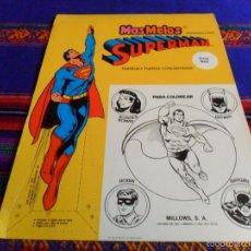 Cómics: FIGURA SUPERMAN TROQUELADA CARAMELOS MASMELOS 1979. BATMAN ROBIN BATGIRL WONDER WOMAN. BE. RARO.. Lote 55822186