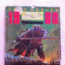 Cómics: CALENDARIO METAL HURLANT 1980 - LF EDITIONS - MOEBIUS DRUILLET DENIS SIRE CHALAND JERONATON SCHUITEN. Lote 56007250