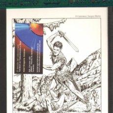 Cómics: TEBEOS-COMICS CANDY - ALIX - ILUSTRACION SOBRE CARTULINA - PORTADA TINTIN 1948 *AA99. Lote 56973155