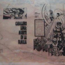 Cómics: (CAR-TC-1) DIFICIL FOTOLITO PORTADA ORIGINAL MARVEL COMIC FORUM CABALLERO LUNA MUERTE EN LA FAMILIA. Lote 56986287