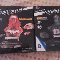 Cómics: 2 PUZZLES EN 3 D BUSTOS DE JUSTICE LEAGUE: WONDER WOMAN Y CYBORG - LIGA DE LA JUSTICIA. Lote 58337513