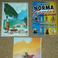 Cómics: TRES TARJETAS DE COMICS- QUIMERA DE 1985- NORMA COMICS Y EN LAS BAHAMAS DE NORMA 1986 VER ENVIOS. Lote 58339241