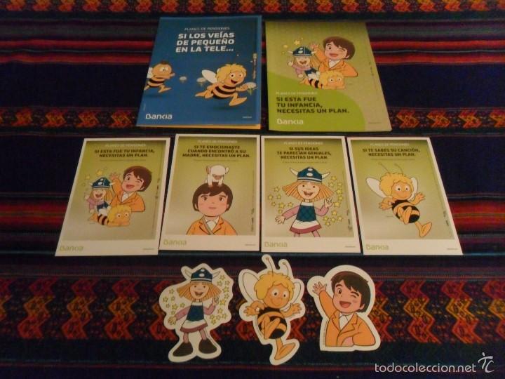 VICKIE EL VIKINGO, HEIDI Y MARCO 4 POSTAL 3 ADHESIVO PEGATINA 2 FOLLETO BANKIA. REGALO 4 FANTÁSTICOS (Tebeos y Comics - Comics Merchandising)