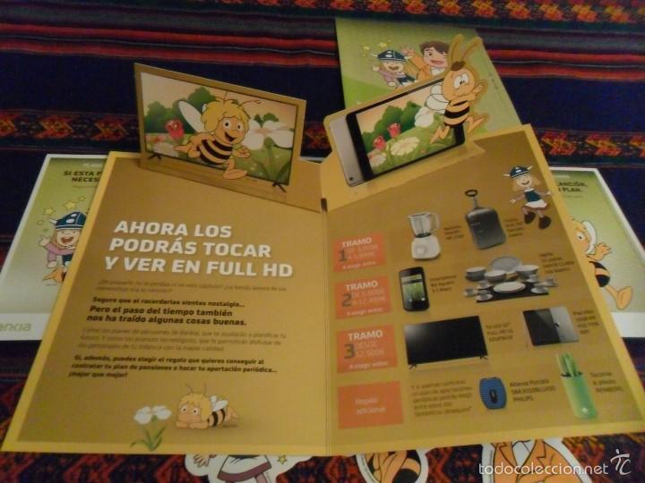 Cómics: VICKIE EL VIKINGO, HEIDI Y MARCO 4 POSTAL 3 ADHESIVO PEGATINA 2 FOLLETO BANKIA. REGALO 4 FANTÁSTICOS - Foto 2 - 119941244