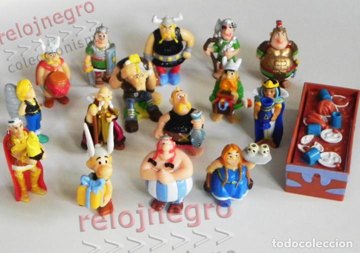 GRAN LOTE FIGURAS PERSONAJE DE CÓMIC ASTÉRIX KINDER JUGUETE FIGURITAS OBÉLIX ROMANO CÉSAR ETC FIGURA (Tebeos y Comics - Comics Merchandising)