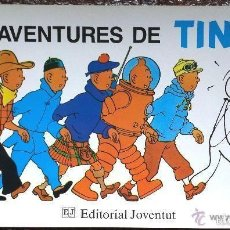 Cómics: POSTER CARTEL DE PUBLICIDAD LES AVENTURES DE TINTIN HERGÉ EDITORIAL JUVENTUT EN CATALÁN. Lote 90099095