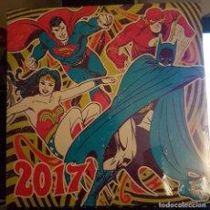 Cómics: CALENDARIO NUEVO, SIN ABRIR, AÑO 2017; INCLUYE PÓSTER; DC COMICS; BATMAN, JOKER, HARLEY QUINN, FLASH. Lote 74102543