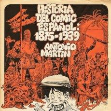 Cómics: CARTEL DE CARLOS GIMENEZ PROMOCIONANDO EL LIBRO HISTORIA DEL COMIC ESPAÑOL, DE ANTONIO MARTIN (1979). Lote 74585051