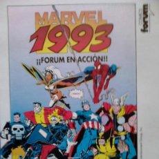 Fumetti: LÁMINA LANZAMIENTOS FORUM 1993. Lote 82935272