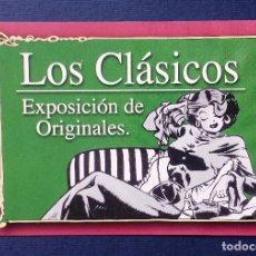 Cómics: FLYER PUBLICIDAD TARJETA PUBLICITARIA EXPOSICIÓN LOS CLÁSICOS - NORMA COMICS - BARCELONA. Lote 85232134