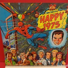 Cómics: MARVEL. CALENDARIO DE PARED ORIGINAL PARA 1975. VER FOTOS. Lote 85415020
