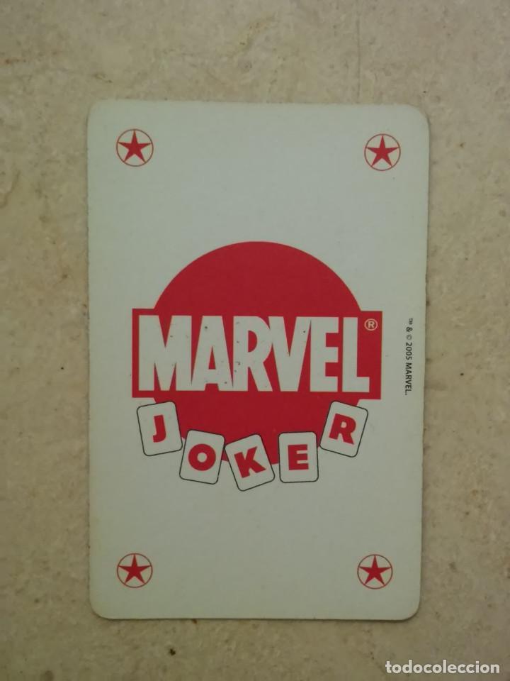 CARTA - NAIPE - MARVEL COMICS - VITRINA - SUPER HEROES 2005 - JOKER ROJO (Tebeos y Comics - Comics Merchandising)