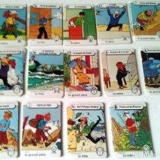 Cómics: JUEGO DE CARTAS DE FAMILIAS TINTIN - LOMBARD 1983 - 84 CARTAS. Lote 90326408