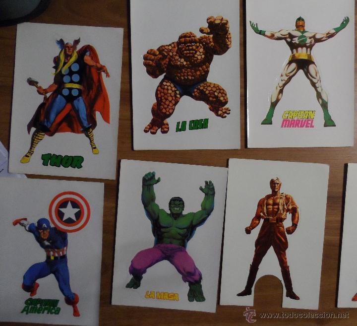 Cómics: Pegatinas de Vértice de superhéroes. Dibujadas por López Espí. Colección completa. - Foto 3 - 44644154