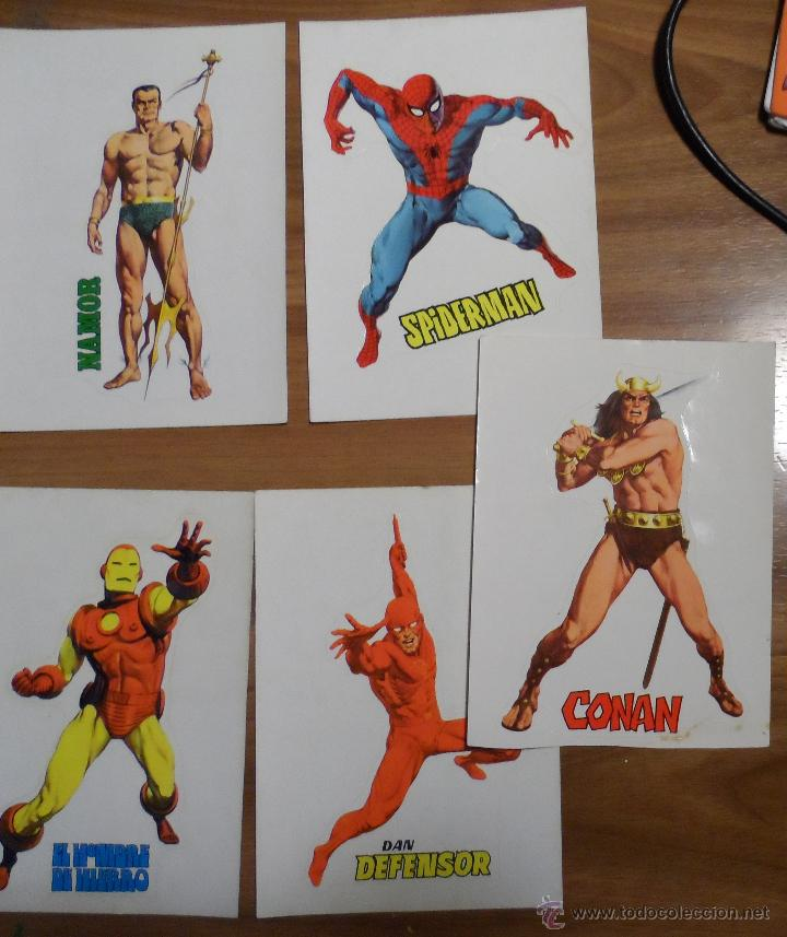 Cómics: Pegatinas de Vértice de superhéroes. Dibujadas por López Espí. Colección completa. - Foto 4 - 44644154