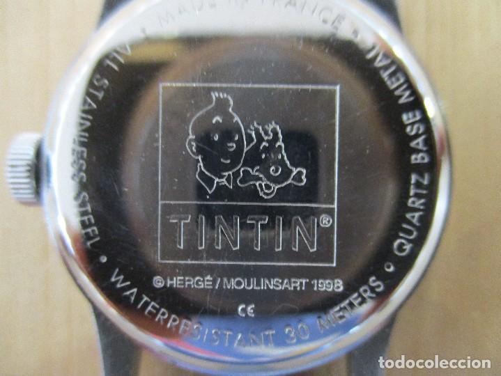 Cómics: RELOJ TINTIN-LOS CIGARROS DEL FARAON-BOLIDO DEL COMIC-CORREA DE ACERO-1998 - Foto 4 - 94262130