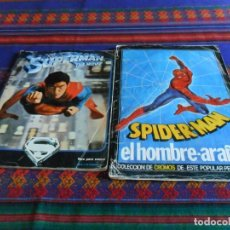 Cómics: SPIDERMAN SPIDER-MAN EL HOMBRE ARAÑA INCOMPLETO Y SUPERMAN THE MOVIE INCOMPLETO CON PÓSTER.. Lote 101278619