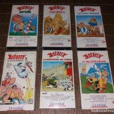 Comics/Tebeos. Ásterix, lote de 6 películas de animación en VHS