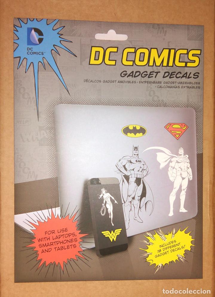 18 PEGATINAS/VINILOS PARA GADGETS (PORTÁTIL, SMARTPHONE, TABLET) DE DC COMICS - NUEVO (Tebeos y Comics - Comics Merchandising)