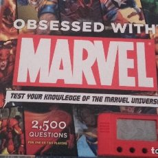 Cómics: OBSESSED WITH MARVEL: TEST YOUR KNOWLEDGE OF THE MARVEL UNIVERSE BY PETER SANDERSON HARDCOVER. Lote 106561575