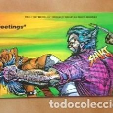 Cómics: POSTAL MARVEL COMICS 1987 - LOBEZNO Y TORMENTA POR BARRY WINDSOR SMITH. Lote 205865682