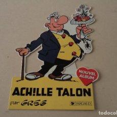 Cómics: DISPLAY DE CARTÓN FRANCÉS ACHILLE TALON - DARGAUD. Lote 113170575