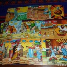 Cómics: ASTERIX BARAJA EL JUEGO DE LA CIZAÑA COMPLETA 40 CARTAS. ERSA. REGALO OTRA INCOMPLETA CON 29 CARTAS. Lote 113469679