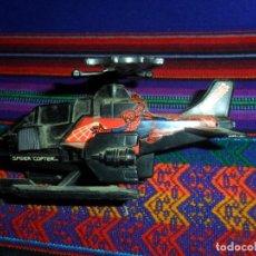 Cómics: SPIDER COPTER. HELICÓPTERO DE SPIDERMAN. BUDDY L. AÑO 1990. 12X8 CMS. REGALO SPIDER CAR COCHE.. Lote 114192423