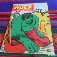 Cómics: EL INCREIBLE HULK LA MASA CUADERNO PARA COLOREAR SIN USO. LAIDA 1981. MUY BUEN ESTADO Y MUY RARO.. Lote 118913179