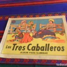 Cómics: LOS TRES CABALLEROS ÁLBUM PARA ILUMINAR. EDITORIAL VILCAR AÑOS 50. WALT DISNEY. 34X24 CMS. MUY RARO.. Lote 118920483