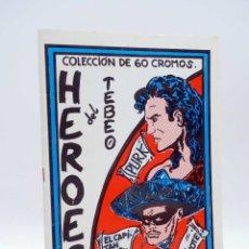 Cómics: HÉROES DEL TEBEO. ALBÚM DE CROMOS (12 CROMOS) CLUB VALLISOLETANO DE AMIGOS DEL TEBEO, 1990. Lote 121976391