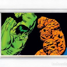 Cómics: IMAN ACRILICO NEVERA - COMIC HULK VS THING. Lote 126829195