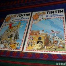 Cómics: SIN USO, CALCÓMIC KIT-KIT NºS 1 Y 2 TINTIN EN LA ISLA NEGRA Y EL LAGO DE LOS TIBURONES. MUY RAROS.. Lote 128985643