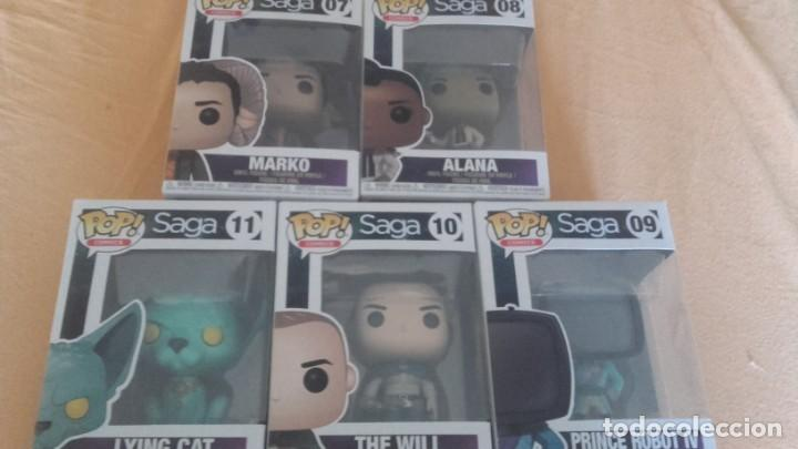 Cómics: lote funko- SAGA DE VAUGHAM Y STAPLES - 5 FIGURAS - THE WILL LYING CAT MARKO ALANA PRINCE ROBOT IV - Foto 1 - 131790594