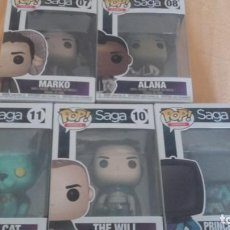 Cómics: LOTE FUNKO- SAGA DE VAUGHAM Y STAPLES - 5 FIGURAS - THE WILL LYING CAT MARKO ALANA PRINCE ROBOT IV. Lote 131790594